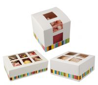 CupCake Boxes ~ Available in four different packaging sizes (1, 4, 6 and 12 cakes)